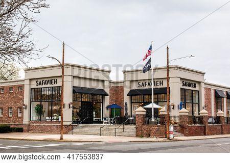 NORWALK, CT,USA  - APRIL 16, 2021:  Safavieh  store on Washington Street in spring day