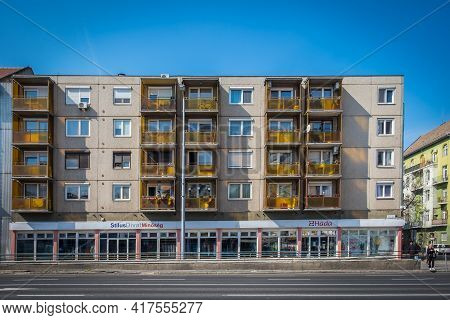 Budapest, Hungary, March 2020, View Of A Building With An