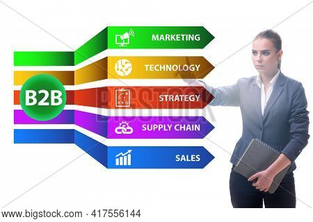 Business to business concept with business people