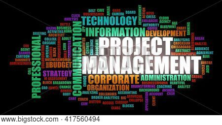 Project Management as a Business Strategy Concept Background