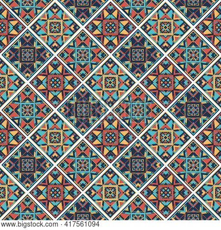 Culture Mexican Pattern. Outline Hand Drawn Illustration Of Culture Mexican Vector Pattern For Web D