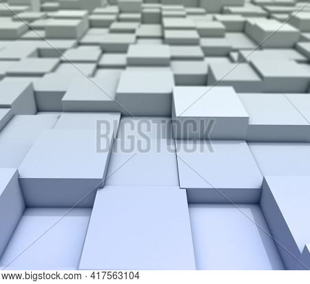 3D render of an abstract background of cubes