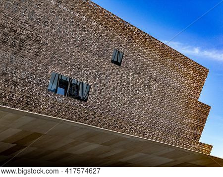 Washington, Dc - Apr 3, 2021: Up Close Views Of The Museum Of African American History And Culture I