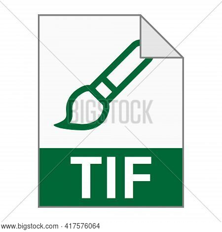 Modern Flat Design Of Tif File Icon For Web