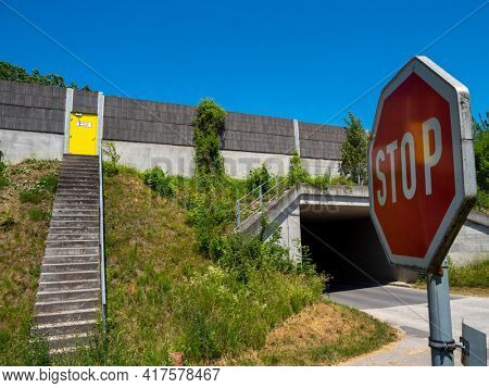 emergency exit at a highway