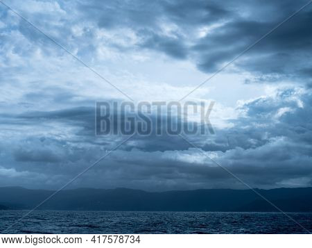 clouds and sea. background with copy space