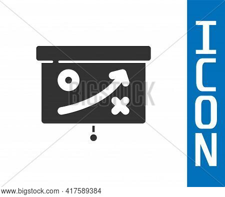 Grey Planning Strategy Concept Icon Isolated On White Background. Cup Formation And Tactic. Vector
