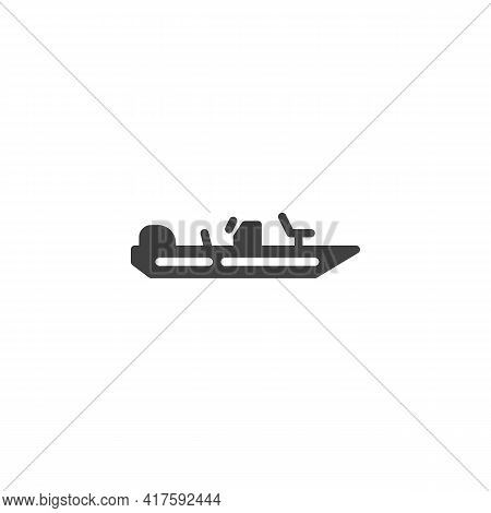 Fishing Boat Vector Icon. Filled Flat Sign For Mobile Concept And Web Design. Motor Boat Glyph Icon.