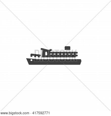 Ferry Boat Vector Icon. Filled Flat Sign For Mobile Concept And Web Design. Ferry Ship Glyph Icon. S