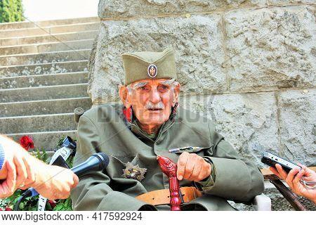 Thessaloniki: May 1, 2020 - Djordje Mihailovic Is A Keeper Of Serbian Military Cemetery At Zeitenlik