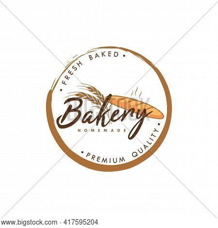 Bakery And Dessert Logo, Zen Bakery Logo, Simple Bakery Logo Vector Template