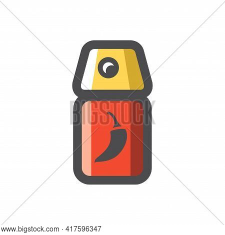 Pepper Spray For Self Defense Vector Icon Cartoon Illustration