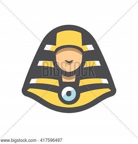 Pharaoh Simple Head Vector Icon Cartoon Illustration