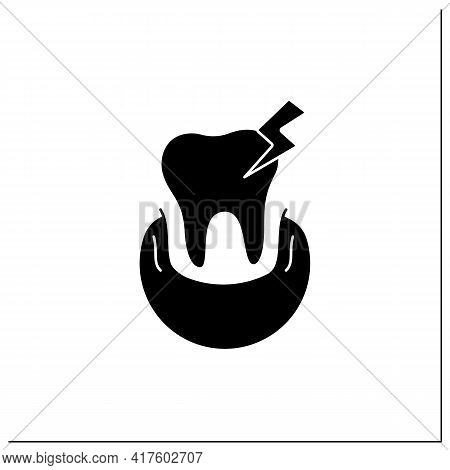 Oral Diseases Glyph Icon.treatments Root Canals And Surgeries Dental Oral Illness.diagnosing Tooth P