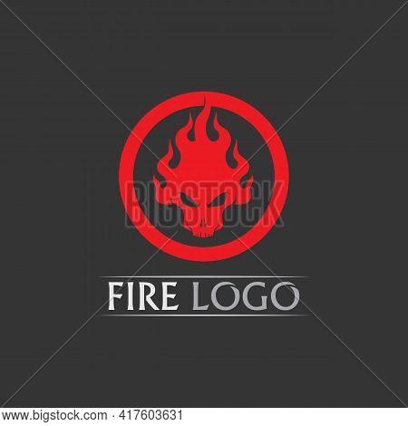 Fire Flame Vector Illustration Design Template Power, Hot, Icon, Logo, Light, Devil, Blaze, Abstract