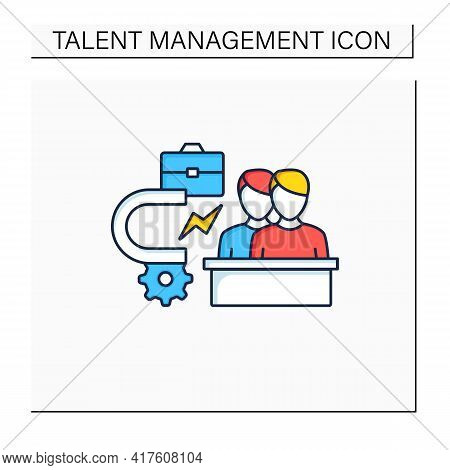 Attracting Employees Color Icon. Inviting New Workers Into Company. Fresh View. Attract Best, Talent