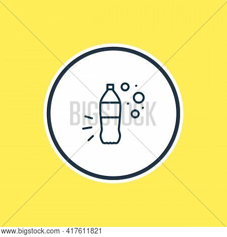 Vector Illustration Of Beverage Icon Line. Beautiful Beverages Element Also Can Be Used As Cola Plas