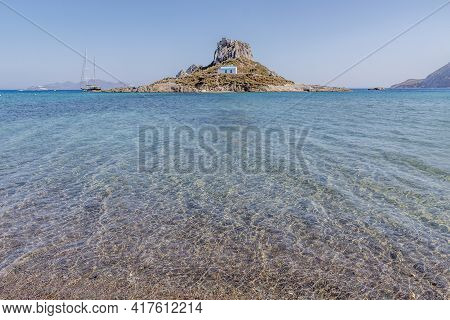 The Beach Ok Agios Stefanos In Kos Island, Is Home To Some Of The Most Beautiful Beaches And Numerou