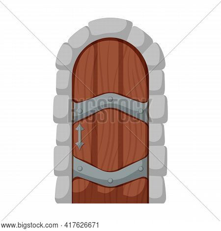 Medieval Door Vector Cartoon Icon. Vector Illustration Castle Doors On White Background. Isolated Ca