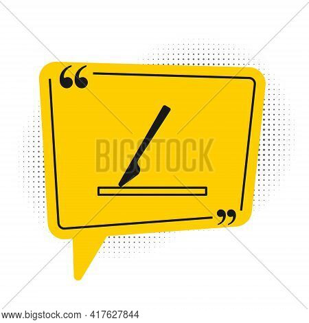 Black Medical Surgery Scalpel Tool Icon Isolated On White Background. Medical Instrument. Yellow Spe