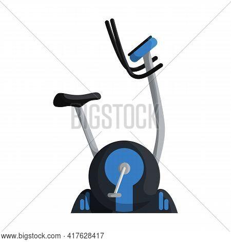 Exercise Bike Vector Cartoon Icon. Isolated Cartoon Illustration Icon Fitness Bicycle.vector Illustr