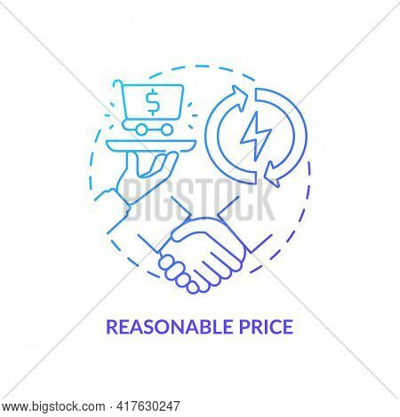 Reasonable Price Concept Icon. Energy Security Component Idea Thin Line Illustration. Lowest-cost So