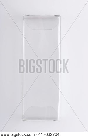 Plastic Transparent Packaging On A White Background. Transparent Plastic