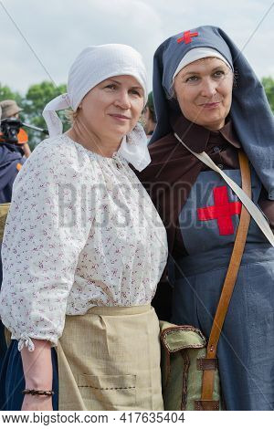 Moscow Region, Nelidovo, Russia July 07, 2017. Historical Reconstruction Of The Civil War, Portrait