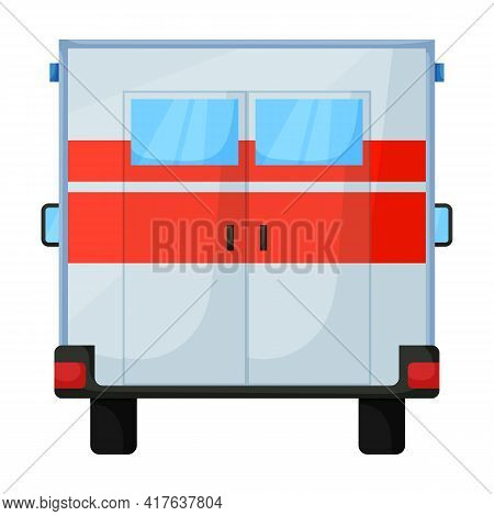 Ambulance Car Vector Icon.cartoon Vector Icon Isolated On White Background Ambulance Car.