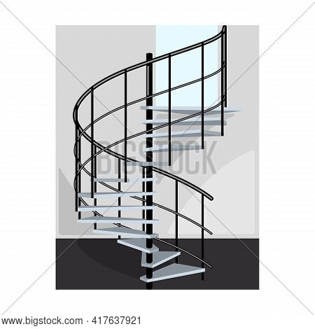 Staircase Vector Icon.cartoon Vector Icon Isolated On White Background Staircase.