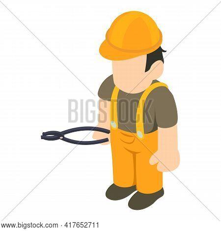 Repairman Icon. Isometric Illustration Of Repairman Vector Icon For Web