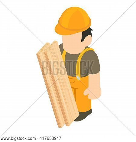 Roofer Icon. Isometric Illustration Of Roofer Vector Icon For Web