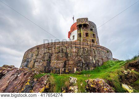 Archirondel British Round Coastal Defence Tower, Bailiwick Of Jersey, Channel Islands