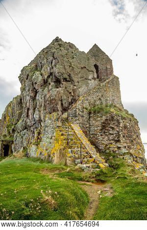 Saint Helier Hermitage Site With Medieval Chapel On Top, Bailiwick Of Jersey, Channel Islands