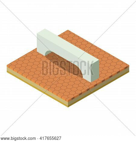 Rectangular Arch Icon. Isometric Illustration Of Rectangular Arch Vector Icon For Web