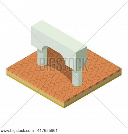 Greek Arch Icon. Isometric Illustration Of Greek Arch Vector Icon For Web