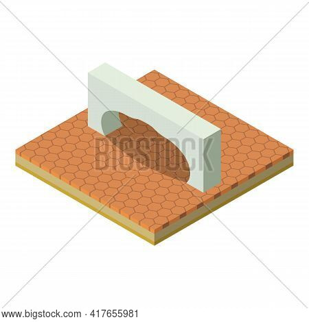 Arch Icon. Isometric Illustration Of Arch Vector Icon For Web