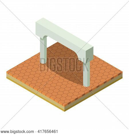 Entrance Arch Icon. Isometric Illustration Of Entrance Arch Vector Icon For Web