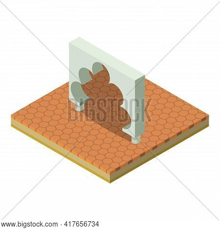 Islamic Arch Icon. Isometric Illustration Of Islamic Arch Vector Icon For Web