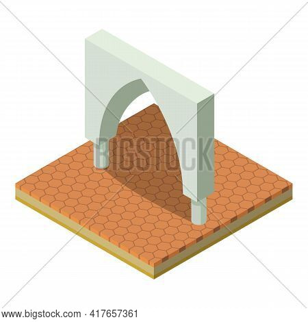 Gothic Arch Icon. Isometric Illustration Of Gothic Arch Vector Icon For Web