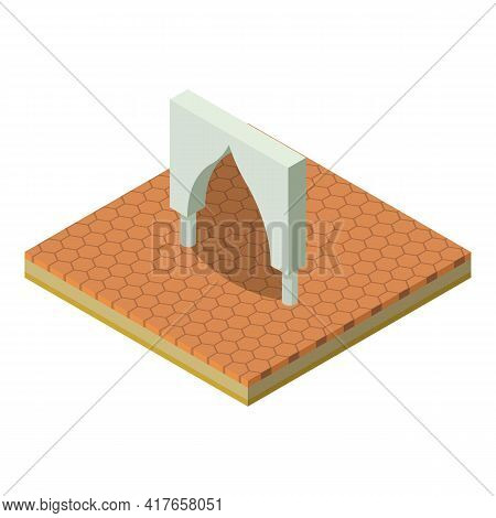Old Arch Icon. Isometric Illustration Of Old Arch Vector Icon For Web