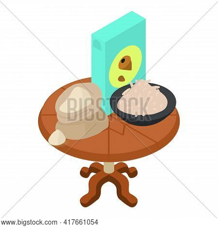 Cereal Product Icon. Isometric Illustration Of Cereal Product Vector Icon For Web