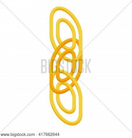 Web Chain Icon. Isometric Of Web Chain Vector Icon For Web Design Isolated On White Background