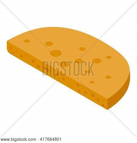Half Pita Bread Icon. Isometric Of Half Pita Bread Vector Icon For Web Design Isolated On White Back