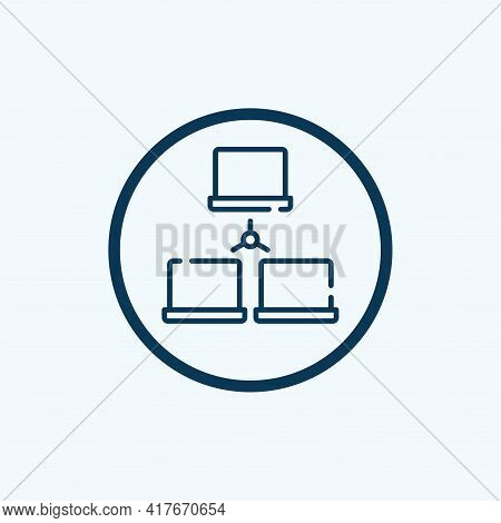Network Icon Isolated On White Background From Internet Of Things Collection. Network Icon Thin Line