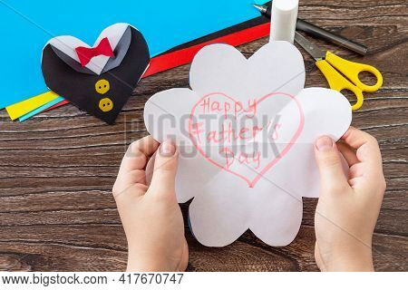 Greeting Card For On Father's Day Heart