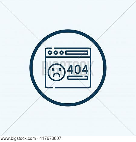 404 Error Icon Isolated On White Background From Programming Collection. 404 Error Icon Trendy And M