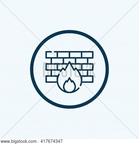 Firewall Icon Isolated On White Background From Database And Servers Collection. Firewall Icon Trend