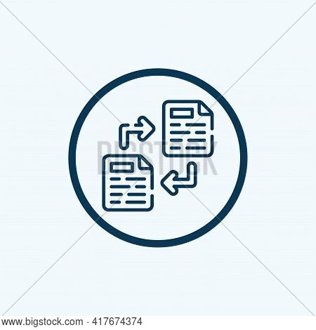 File Transfer Icon Isolated On White Background From Data Transfer Collection. File Transfer Icon Th