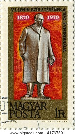 HUNGARY - CIRCA 1970: Postage stamps printed in Hungary dedicated to Vladimir Ilyich Lenin (1870-1924), Russian communist revolutionary, politician and political theorist, circa 1970.
